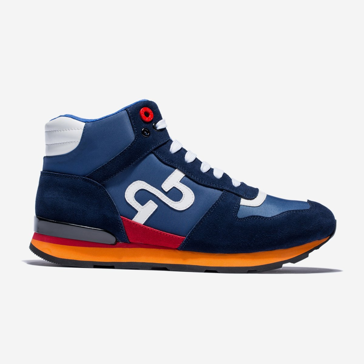 High Top Lace-Up Suede Sneakers Blue