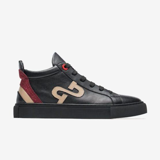 Men High-Top Shoes Black