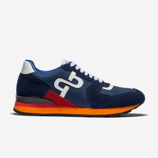 Lace-Up Suede Sneakers Blue