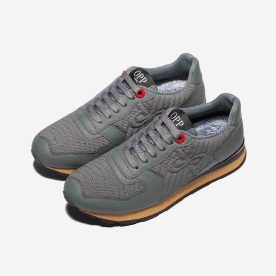 Lace-Up Suede Sneakers Grey