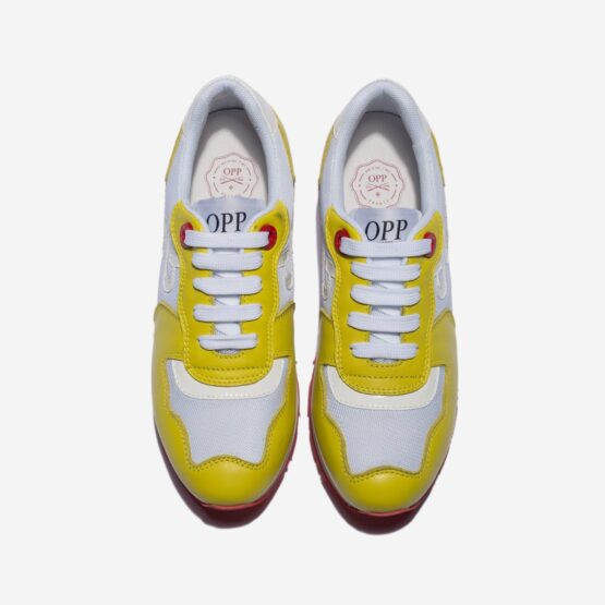 Women Lace-Up Suede Sneakers Yellow - Top Women Sneakers - OPP Official Store (OPP France)