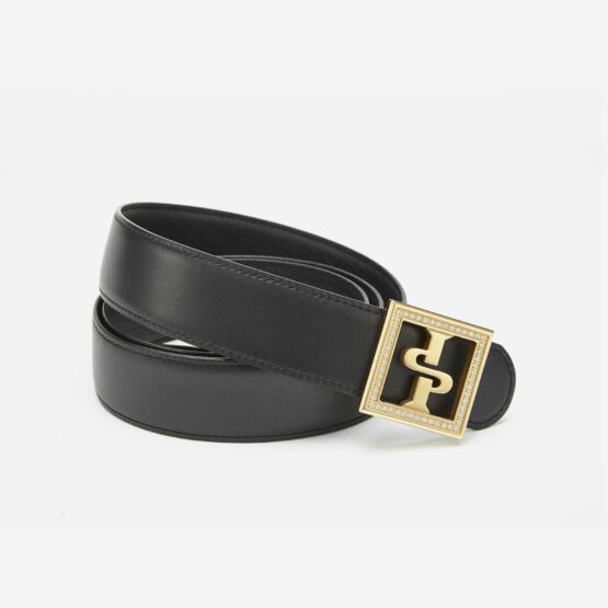 18K Plated Diamond Inlaid Men Belts Black Gold - Top Belts - OPP Official Store (OPP France)