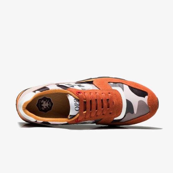Lace-Up Paint Sneakers Orange
