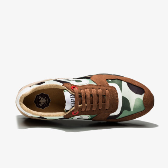 Lace-Up Paint Sneakers Brown