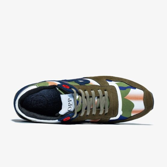High Top Lace-Up Suede Sneakers Green