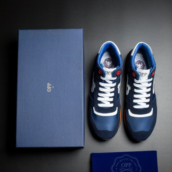 High Top Lace-Up Suede Sneakers Blue - Top Sneakers - OPP Official Store (OPP France)