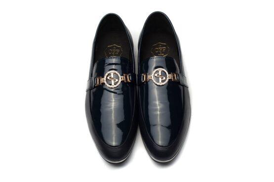Buckle Dress Shoes Blue