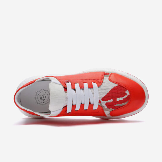 Casual Lace-Up Shoes Red