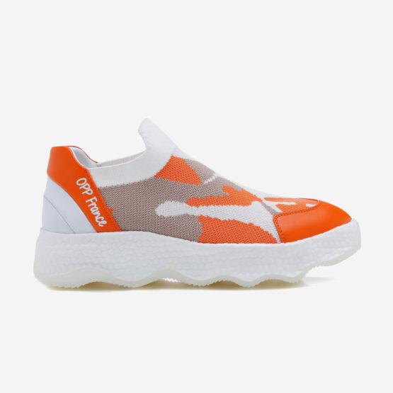 Women Casual Slip On Shoes Light Orange