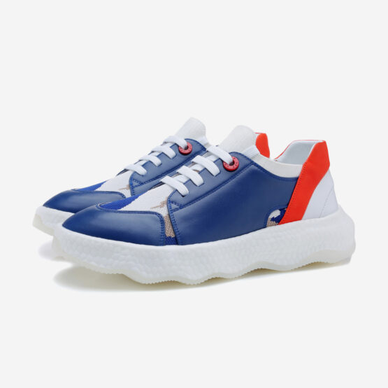 Casual Lace-Up Shoes Blue