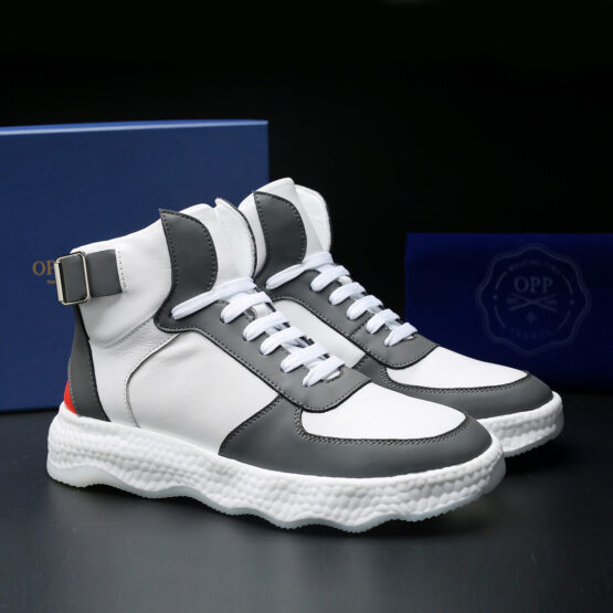 Men High-Top Shoes Grey