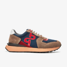 Lace-Up Suede Sneakers Brown