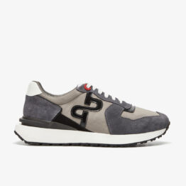 Lace-Up Suede Sneakers Gray