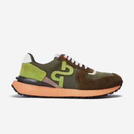 Lace-Up Suede Sneaker Army Green