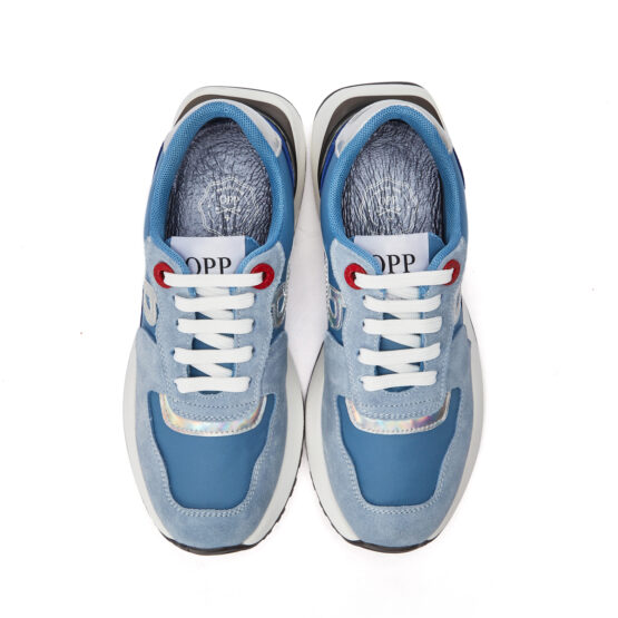 Women Lace-Up Suede Sneaker Sky blue