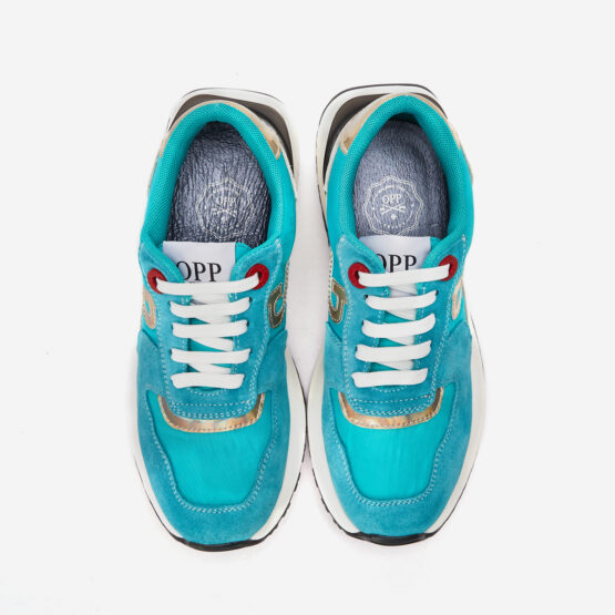Women Lace-Up Suede Sneaker Lake blue