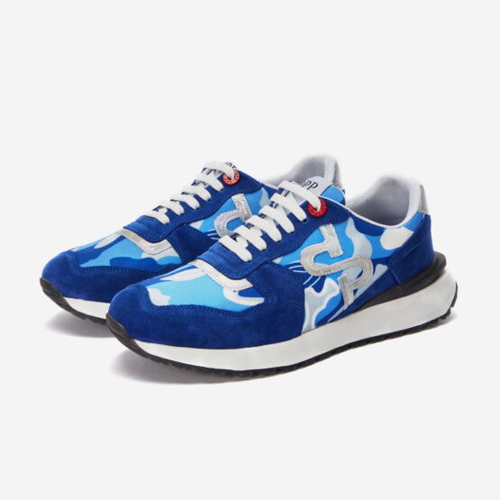 Lace-Up Suede Sneaker Sky Blue