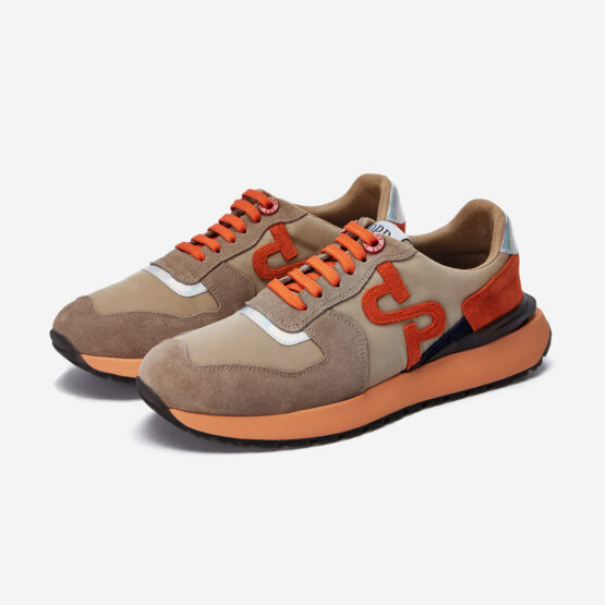 Lace-Up Suede Sneaker Khaki