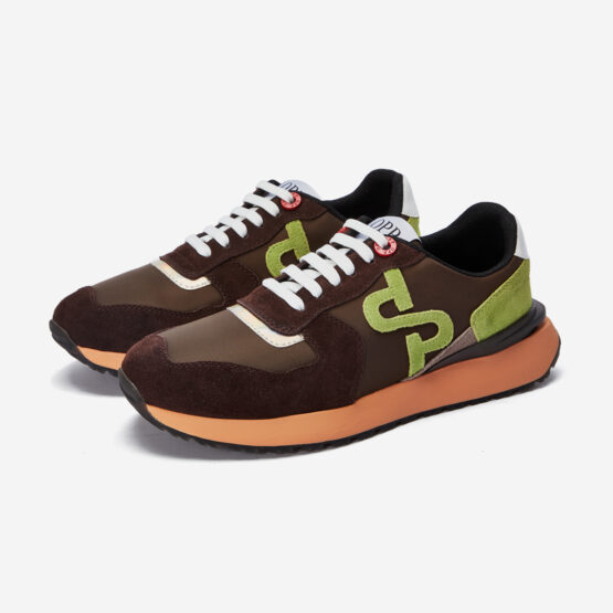 Lace-Up Suede Sneaker Chocolate