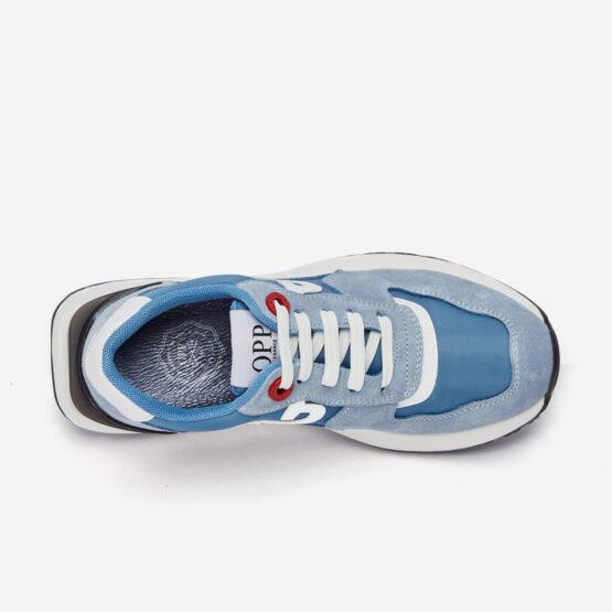 Women Lace-Up Suede Sneaker Haze blue