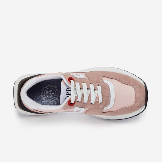 Women Lace-Up Suede Sneaker Pink