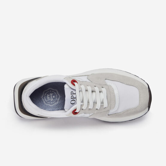 Women Lace-Up Suede Sneaker White