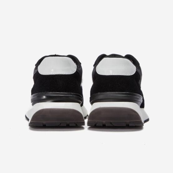 Women Lace-Up Suede Sneaker Black